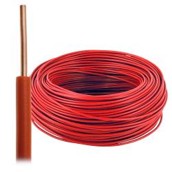 Przewód drut DY H07V-U 2,5 mm² 750V czerwony 100mb