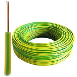 Przewód drut DY H07V-U 1,5 mm² 750V żółto-zielony PE 100mb