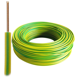 Przewód drut DY H07V-U 2,5 mm² 750V żółto-zielony PE 100mb
