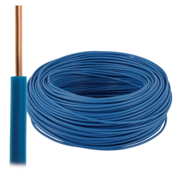 Przewód drut DY H07V-U 1,5 mm² 750V niebieski 100mb