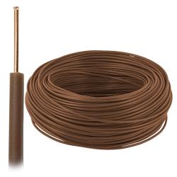 Przewód drut DY H07V-U 1,5 mm² 750V brązowy 100mb