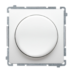 SIMON BASIC Ściemniacz do LED naciskowo-obrotowy do ramki biały BMS9L.01/11