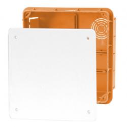ELEKTRO-PLAST Puszka instalacyjna P/T 156×156 z pokrywą IP40 pomarańczowa 11.7