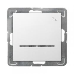 OSPEL IMPRESJA Łącznik schodowy pojedynczy z podświetleniem do ramki biały ŁP-3YS/m/00