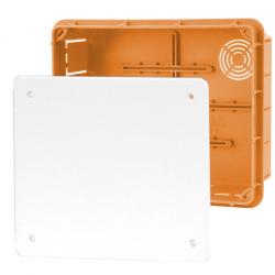 ELEKTRO-PLAST Puszka instalacyjna P/T 156×196 z pokrywą IP40 pomarańczowa 11.8