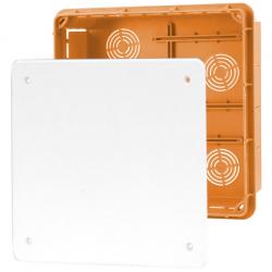 ELEKTRO-PLAST Puszka instalacyjna P/T 196×196 z pokrywą IP40 pomarańczowa 11.9