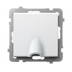 OSPEL SONATA przyłącz kablowy wypust do ramki biały GPPK-1R/m/00