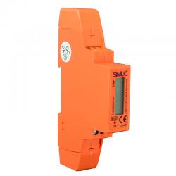 SIMET SIMLIC Licznik energii elektrycznej na szynę cyfrowy 1F 5(45)A 230V LS-1F
