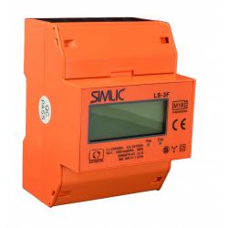 SIMET SIMLIC Licznik energii elektrycznej na szynę cyfrowy MID 3F 10(100)A 400V LS-3F