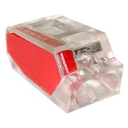 LC Szybkozłączka na drut 2x0,5-2,5mm² transparentna opak. 100 szt.