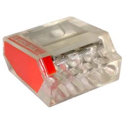 LC Szybkozłączka na drut 3x0,5-2,5mm² transparentna opak. 100 szt.