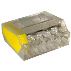 LC Szybkozłączka na drut 5x0,5-2,5mm² transparentna opak. 50 szt.