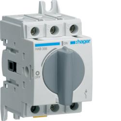 HAGER Rozłącznik izolacyjny mocy wyłącznik główny OBROTOWY O-I 63A 3P HAB306