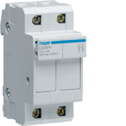 HAGER Modułowa podstawa bezpiecznikowa do systemów PV 2P 10x38mm 32A 1000VDC