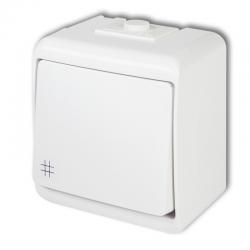 KARLIK JUNIOR Łącznik zwierny krzyżowy natynkowy IP54 biały WHE-6