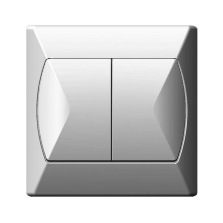 OSPEL AKCENT Łącznik podwójny świecznikowy biały ŁP-2A/00