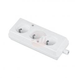 JONEX Gniazdo potrójne listwa rozdzielcza z/u 16A 2P+Z 250V białe GN-370