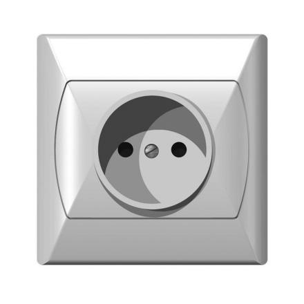 OSPEL AKCENT Gniazdo pojedyncze b/u białe GP-1A/00