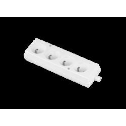PLASTROL Gniazdo potrójne listwa rozdzielcza z/u 4p+Z białe GN-470