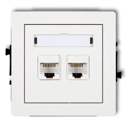 KARLIK DECO Gniazdo podwójne komputerowe 2xRJ45 białe DGK-2