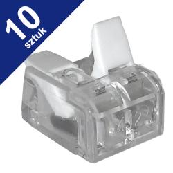 LC Szybkozłączka uniwersalna 2x0,14-4mm² transparentna ZP602 10szt.