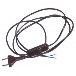 ZAMEL Wyłącznik na przewodzie 2,5A z wtyczką 2P brązowy PC-2