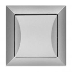 Wyłącznik łącznik pojedynczy w kolorze srebrnym