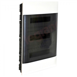 Legrand Rozdzielnica modułowa podtynkowa PRACTIBOX S 3x12 drzwi przezroczyste 135373
