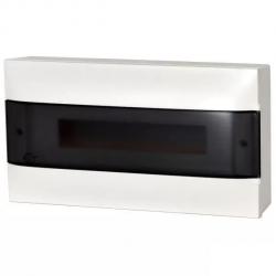 Legrand Rozdzielnica modułowa natynkowa PRACTIBOX S 1x18 drzwi przezroczyste 137436