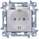 SIMON 10 Gniazdo pojedyncze hermetyczne do ramki typu schuko biały 16A CGSZ1B.01/11A