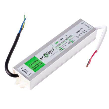 ECOLIGHT Zasilacz hermetyczny IP67 5A/60W 12V LED CCTV RTV