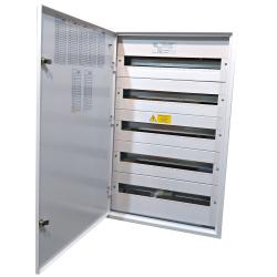 Rozdzielnica natynkowa 5x24 IP40 metalowa z zamkami RN-120 PL