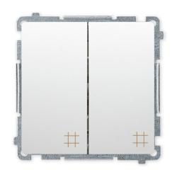 SIMON BASIC Wyłącznik łącznik podwójny krzyżowy do ramki biały BMW7/2.01/11