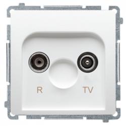 SIMON BASIC Gniazdo antenowe RTV przelotowe do ramki białe BMZAP10/1.01/11