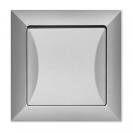 Wyłącznik łącznik krzyżowy w kolorze srebrnym