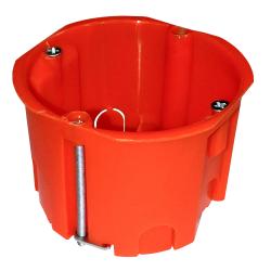 ELEKTRO-PLAST Puszka podtynkowa płytka do regipsów z wkrętami PK-60/45 PK-60F