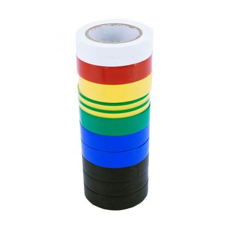 Taśma izolacyjna PCV 15mm 10m mix kolorów 10 szt.