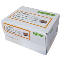 WAGO Szybkozłączka uniwersalna CLASSIC 5x0,08-4mm² z dźwigniami zwalniającymi 222-415 opak. 40 szt.