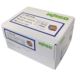 WAGO Szybkozłączka uniwersalna CLASSIC 3x0,08-4mm² z dźwigniami zwalniającymi 222-413 opak. 50 szt.
