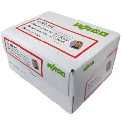 WAGO Szybkozłączka uniwersalna CLASSIC 2x0,08-4mm² z dźwigniami zwalniającymi 222-412 opak. 50 szt.