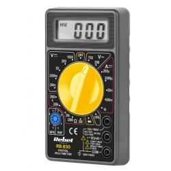 REBEL Multimetr cyfrowy miernik uniwersalny woltomierz amperomierz omomierz RB-830