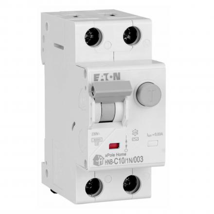 EATON Wyłącznik różnicowo-nadprądowy 2P C10A 30mA typ AC HNB-C10/1N/003 195125
