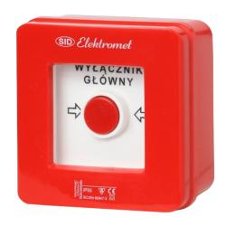 Elektromet Wyłącznik główny alarmowy natynkowy WG-1s IP55 921440