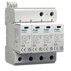 HAGER Ogranicznik ochronnik przepięć B+C T1+T2 MOV 4P TN-S/TT STYK SPA931