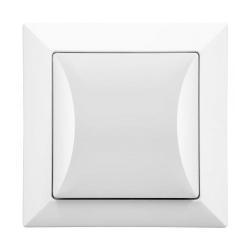 TIMEX OPAL Wyłącznik łącznik pojedynczy w kolorze białym
