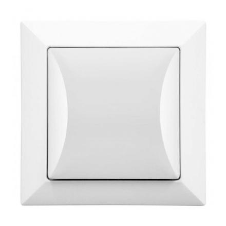 TIMEX OPAL Wyłącznik łącznik schodowy w kolorze białym