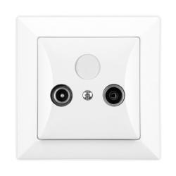 TIMEX OPAL Gniazdo antenowe RTV końcowe białe GAP Op/K BI