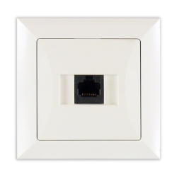 TIMEX OPAL Gniazdo komputerowe RJ45 8pin zacisk krone LSA+ białe GTP-12 Op BI