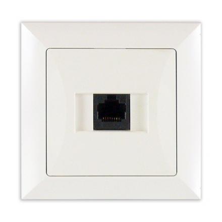 TIMEX OPAL Gniazdo komputerowe RJ-45 w kolorze białym