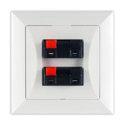 TIMEX OPAL Gniazdo głośnikowe kolumnowe podwójne białe GG-2 Op BI